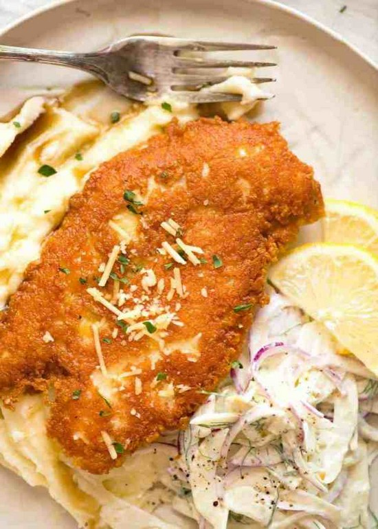 Crispy Parmesan Crusted Chicken Breast Recipe