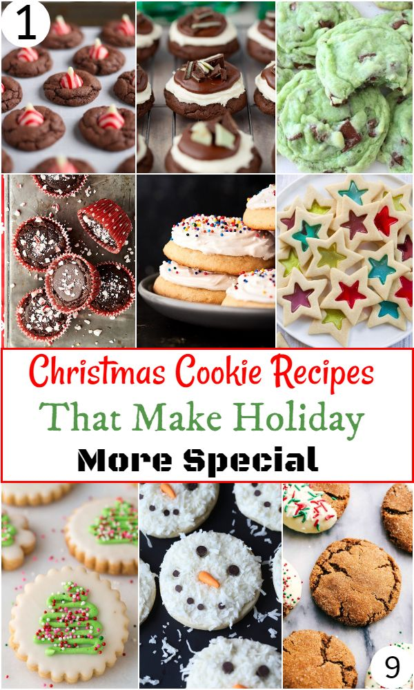 Christmas Cookie Recipes That Make Holiday More Special