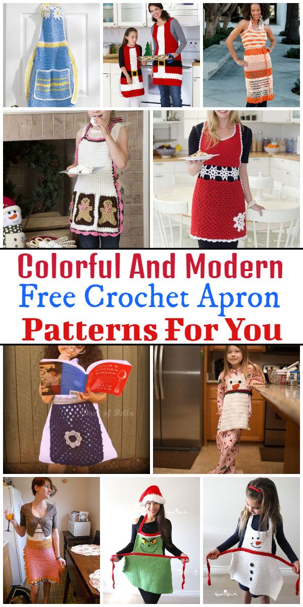 Colorful And Modern Free Crochet Apron Patterns For You