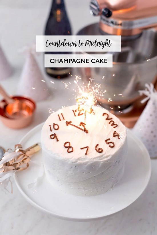 Countdown To Midnight Champagne Cake Recipe