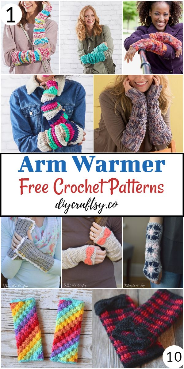 Free Crochet Arm Warmer Patterns To keep Your Arms Hot