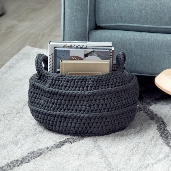 Free Crochet Basket With Handles Pattern