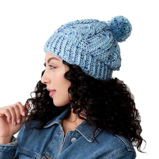 Free Crochet Cabled Hat Pattern