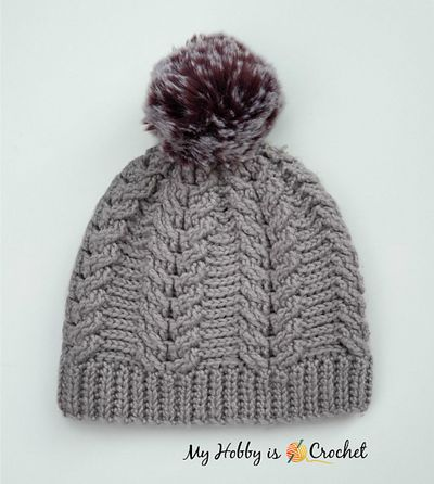 Free Crochet Chic Cable Beanie Pattern