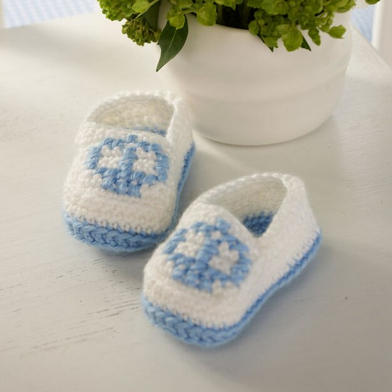 Free Crochet Crown Baby Booties Pattern