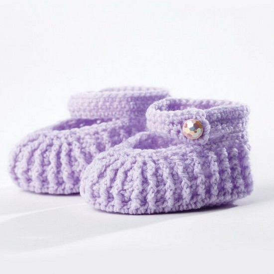 Free Crochet Easy Baby Booties Pattern