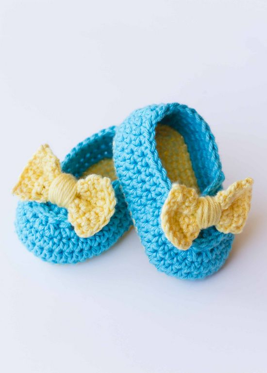Free Crochet Lemon Drop Booties Pattern