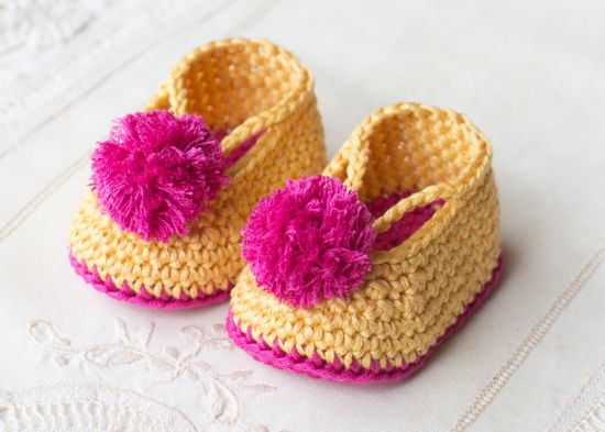 Free Crochet Lollipop Circus Booties Pattern