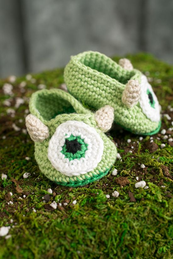 Free Crochet Monster Baby Booties Pattern
