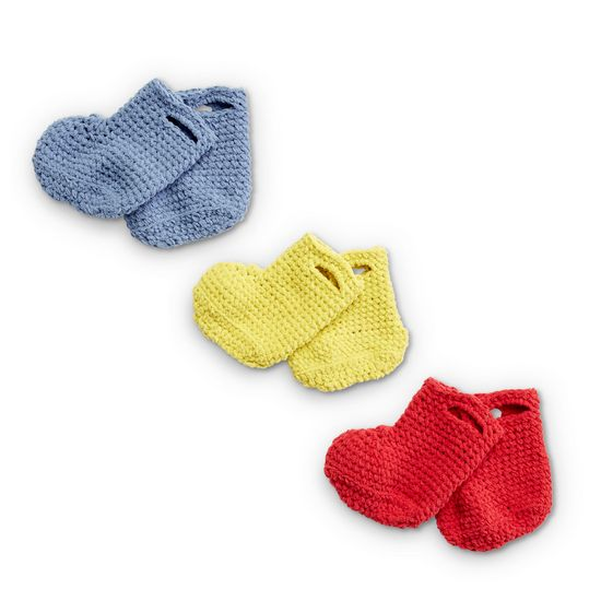 Free Crochet Rainy Day Baby Booties Pattern
