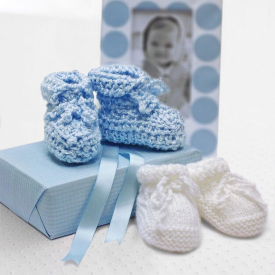 Free Crochet Shower Baby Booties Pattern