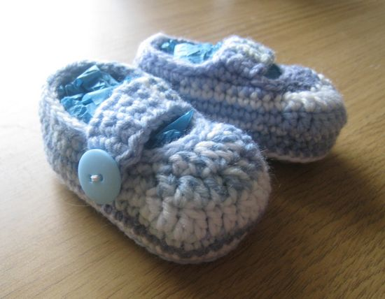 Free Crochet Simple Baby Booties Pattern