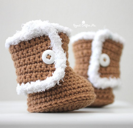 Free Crochet Ugg Style Booties Pattern