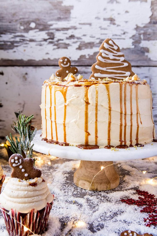Gingerbread Cake With Caramel Cream Recipe