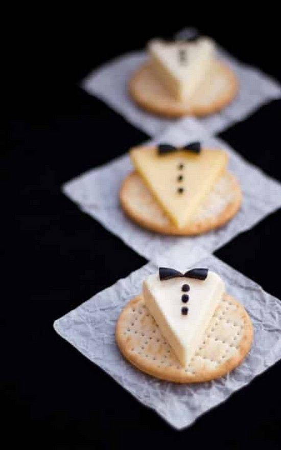 Stylish Tuxedo Cheese & Crackers Recipe