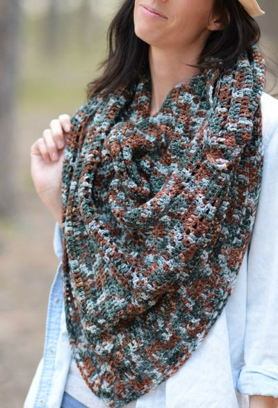 Free Crochet Anya Fall Triangle Scarf Pattern