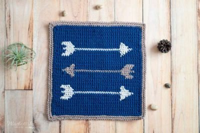 How To Crochet A Blanket Arrows Square