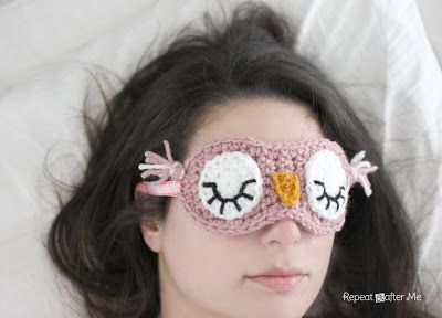 Owl Crochet Sleep Mask Pattern