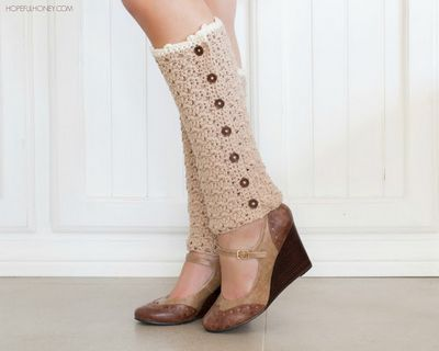 Vintage French Crochet Pattern For Leg Warmers