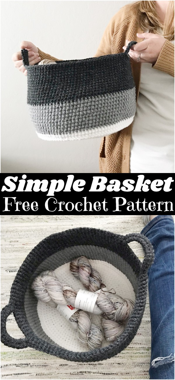 Crochet A Simple Basket Pattern