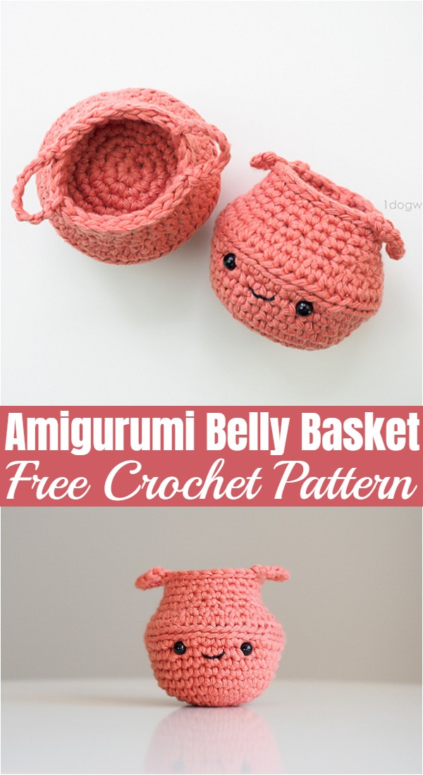 Crochet Amigurumi Belly Basket