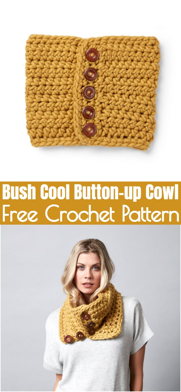 Crochet Bush Cool Button-up Cowl