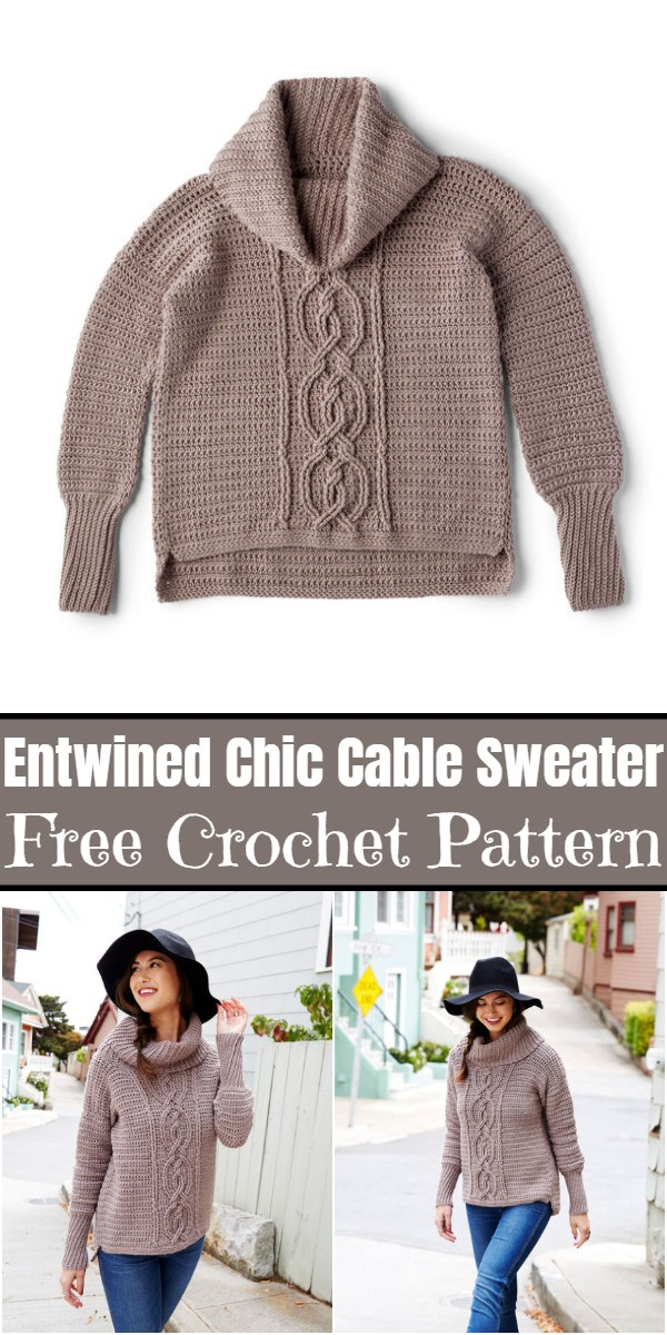 Crochet Entwined Chic Cable Sweater