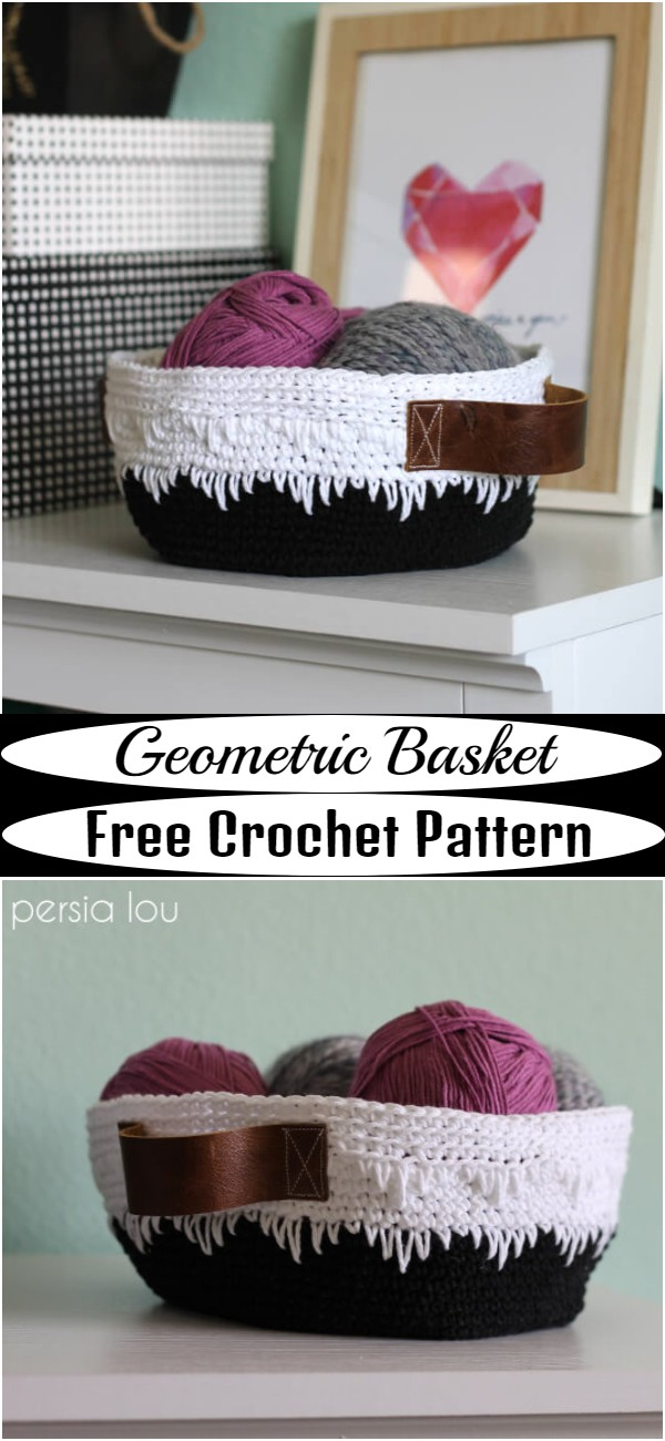 Crochet Geometric Basket Pattern