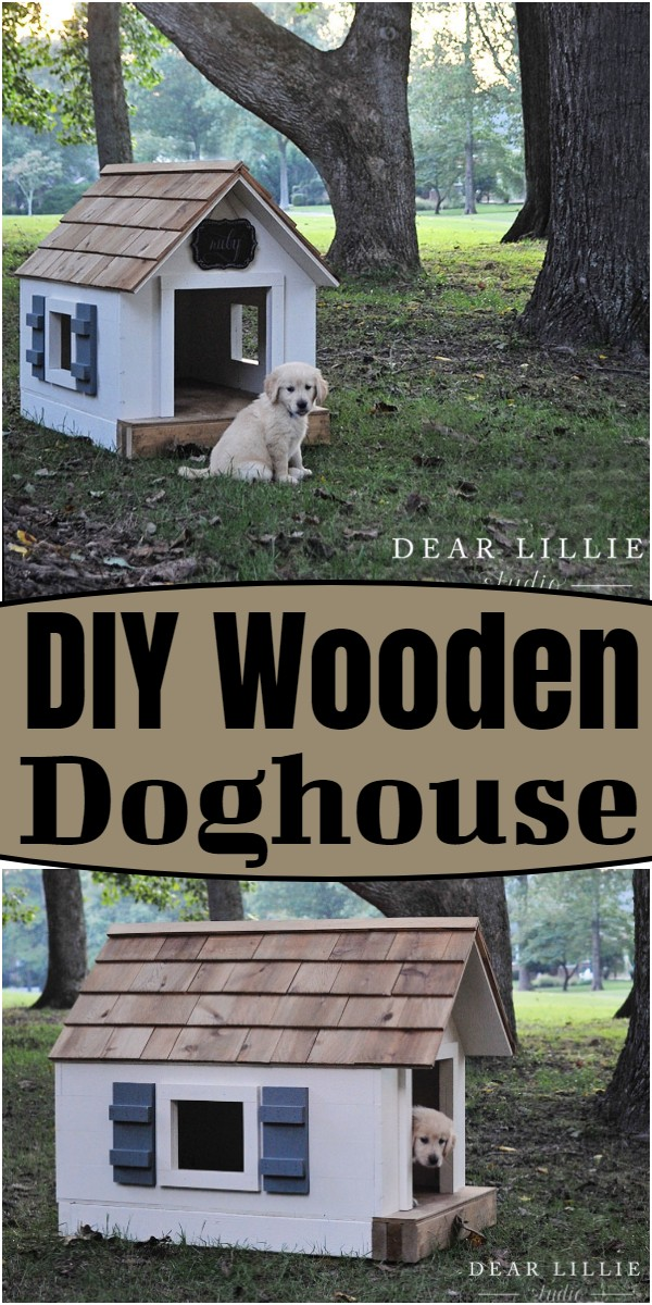 DIY Wooden Doghouse