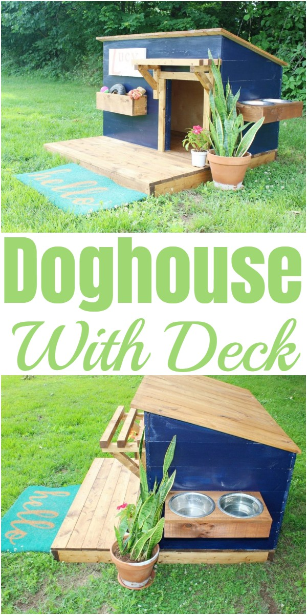 Doghouse With Deck