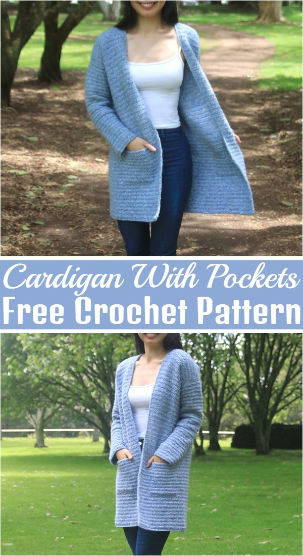 Easy Crochet Cardigan With Pockets