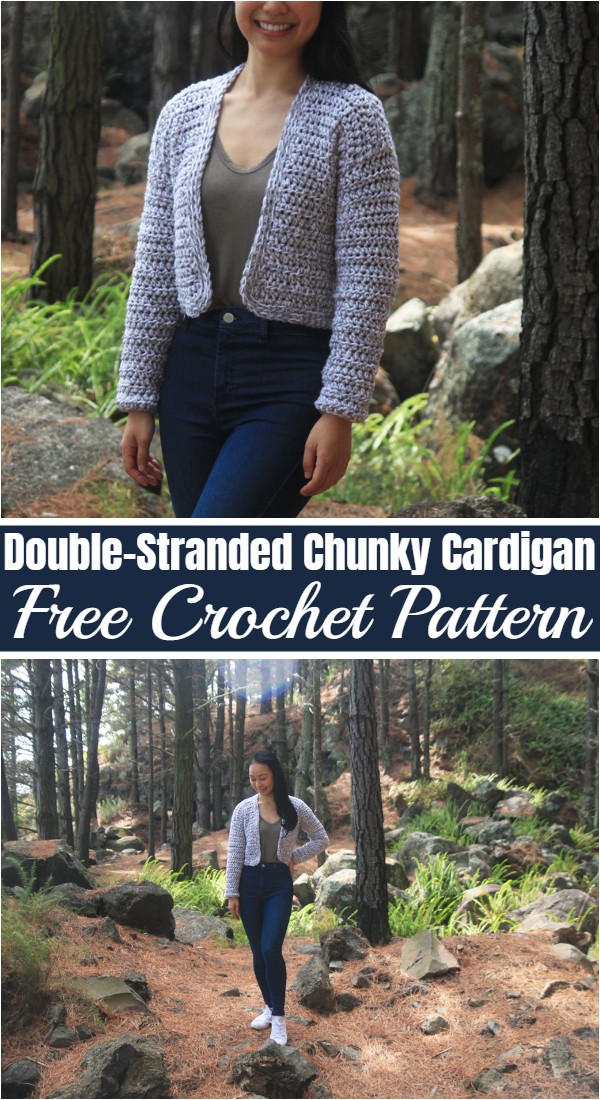 Free Crochet Double-Stranded Chunky Cardigan