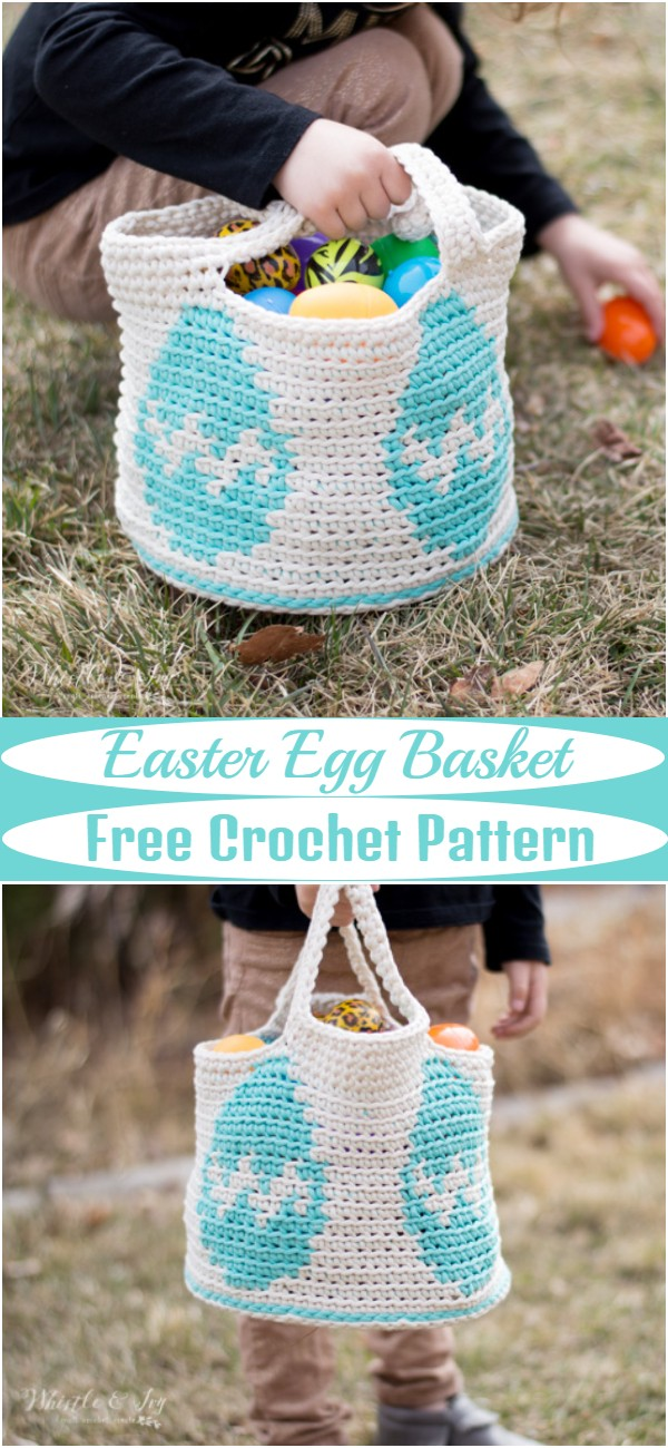 Free Crochet Easter Egg Basket Pattern