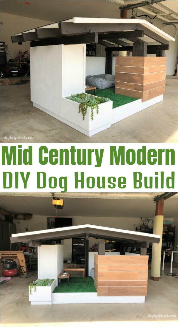 Mid Century Modern DIY Dog House Build