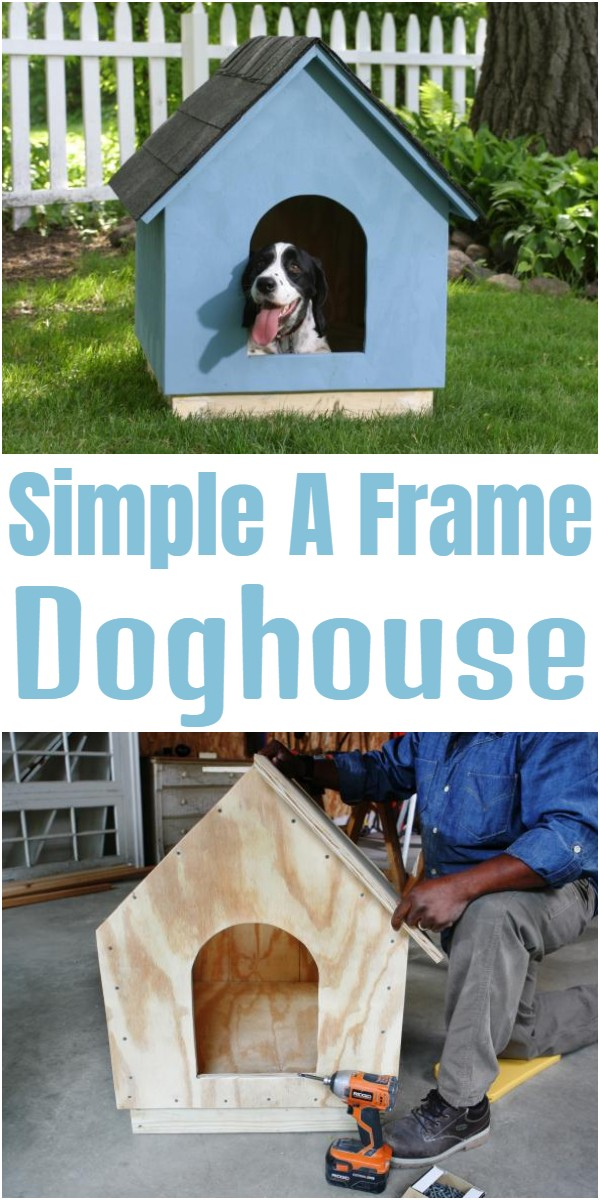 Simple A-Frame Doghouse