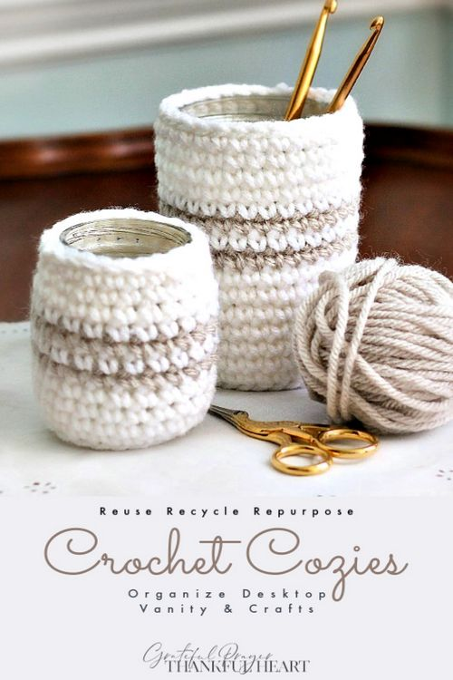 Crochet Cozy Pattern For Jars Or Cans