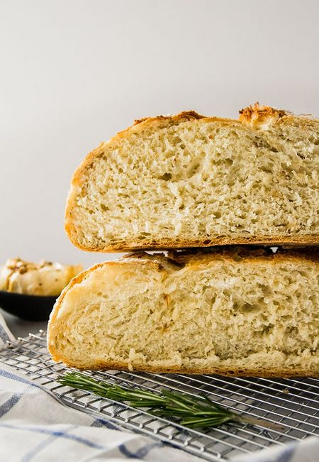 Crusty Roasted Garlic And Rosemary Bread Recipe