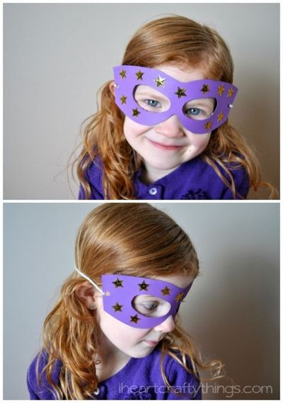 DIY Cardboard Superhero Masks IdeaDIY Cardboard Superhero Masks Idea