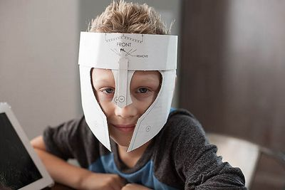 DIY Cardboard Warrior Helmets Mask Idea