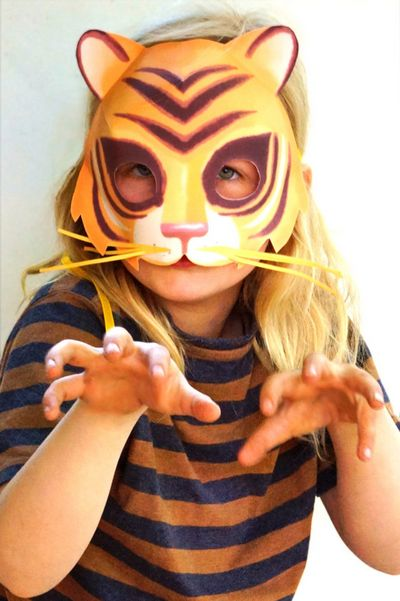DIY Easy Printable Tiger Mask Idea