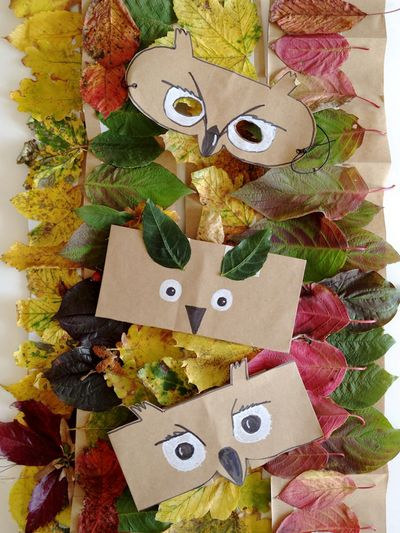 DIY Leaf Crowns And Animal Masks
