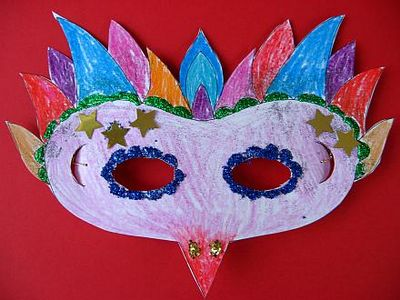 DIY Printable Mardi Gras Mask