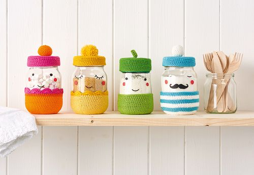 How To Make A Crochet Jar Cover Pattern