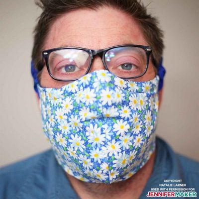 Make A Mask Pattern With Filter Pocket & Adjustable Ties