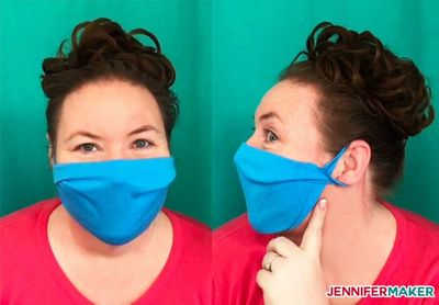 Make A No-sew Face Mask From A T-shirt