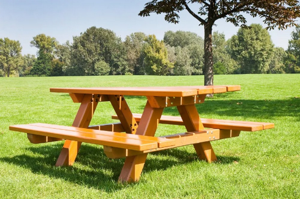 DIY Picnic Table With Benches