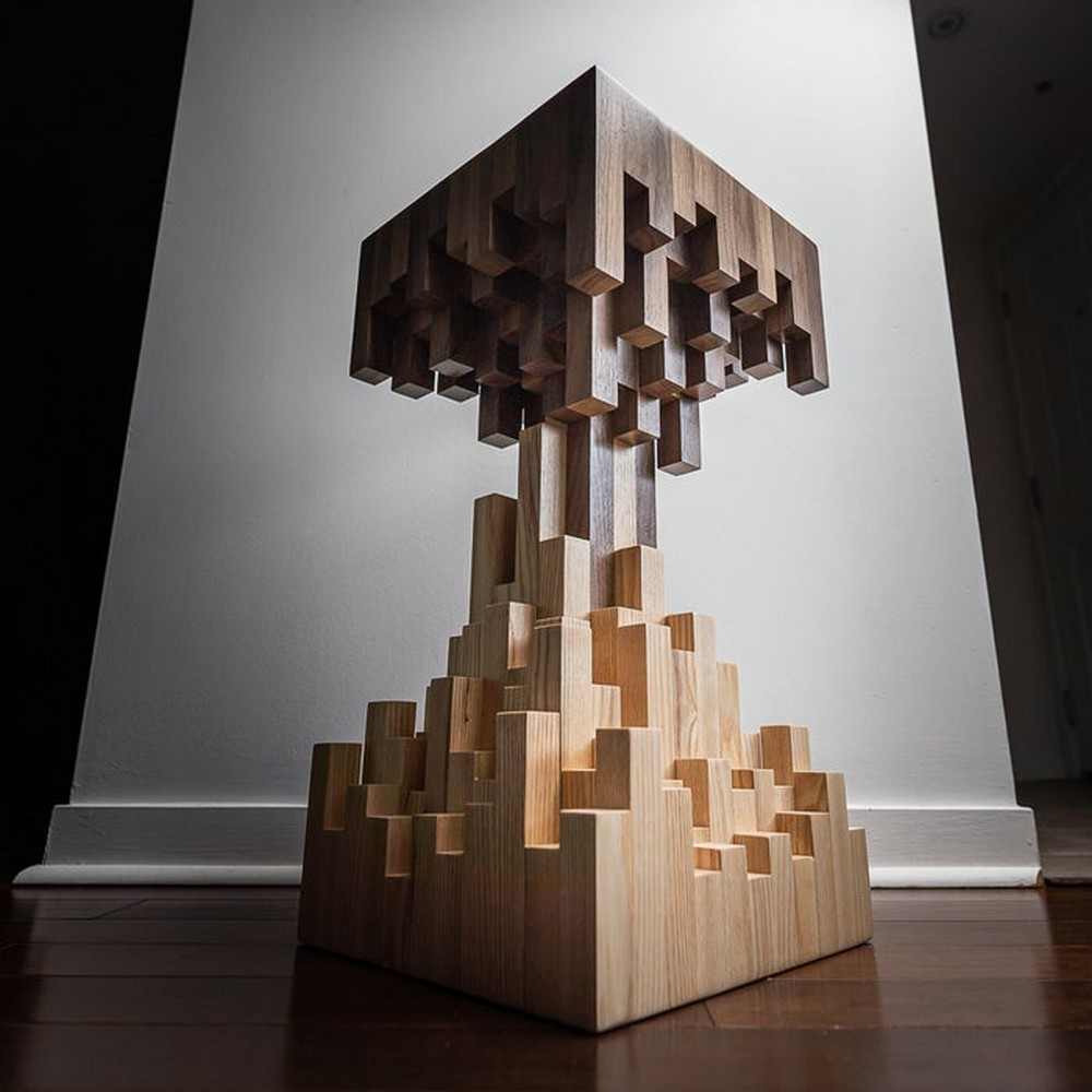 DIY Pixelated End Table