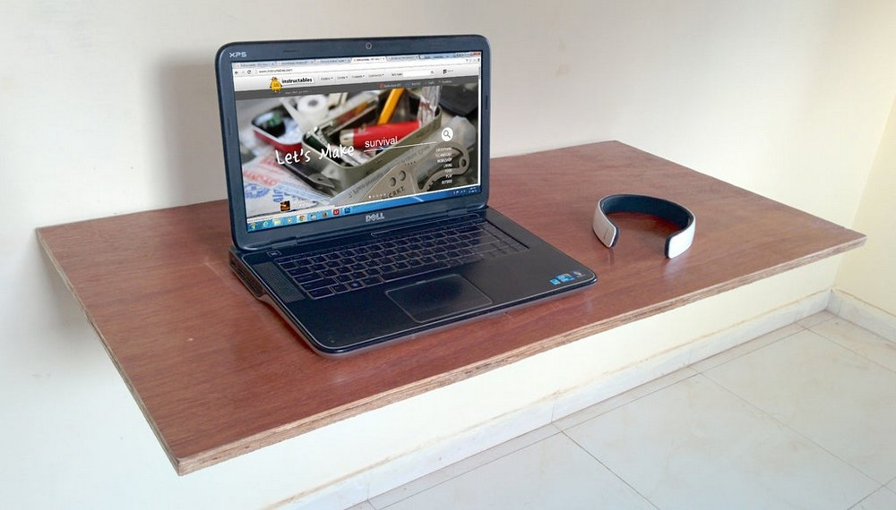 DIY Wall Mounted Fold Out Desk