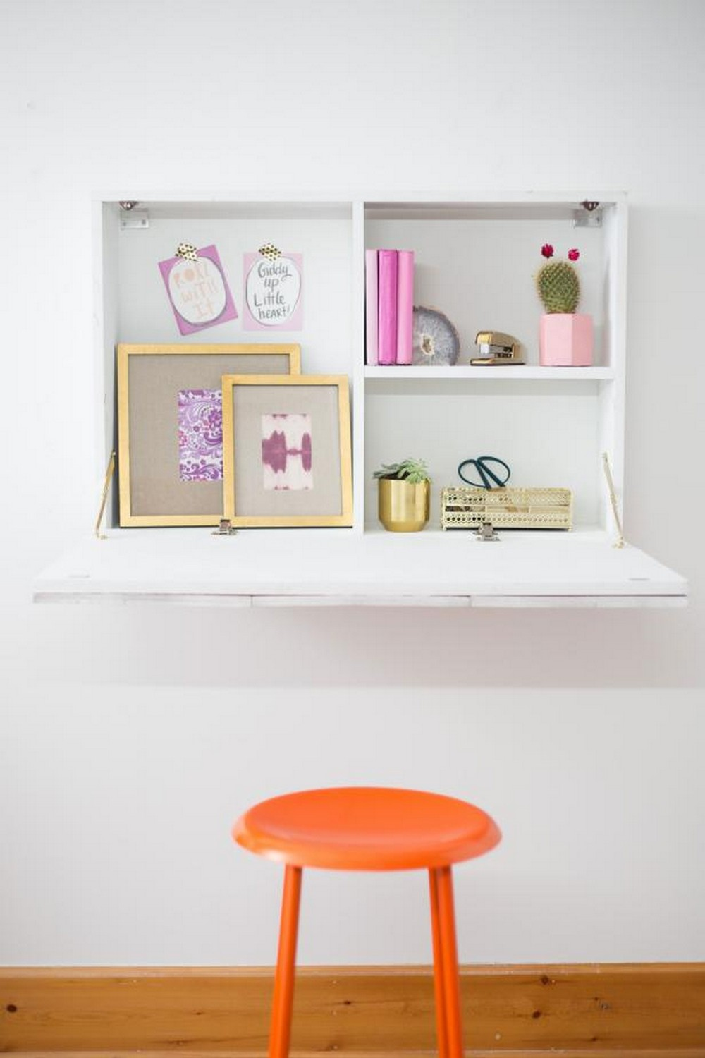 How To Build A Wall Mounted Fold Down Desk