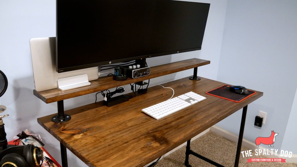 How To Build An Industrial Pipe Desk